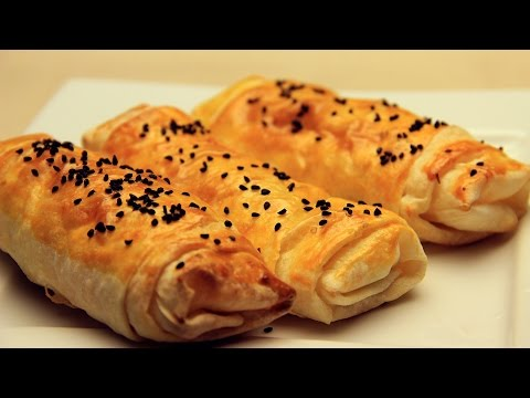 Turkish Borek Recipe - Crispy Turkish Pastry with Feta Cheese