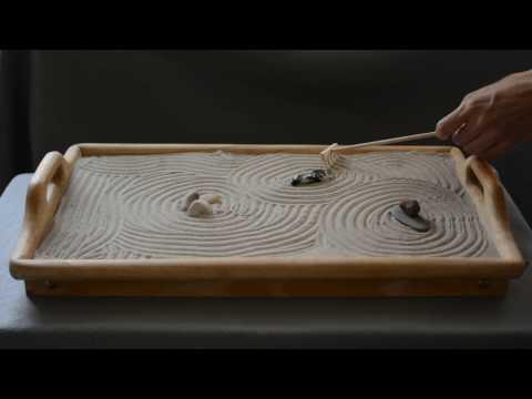 ASMR, Mini Zen Garden #3, Sand Sounds, no talking