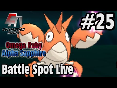 Pokemon Omega Ruby and Alpha Sapphire: Battle Spot Live #25: Corphish Kills Things