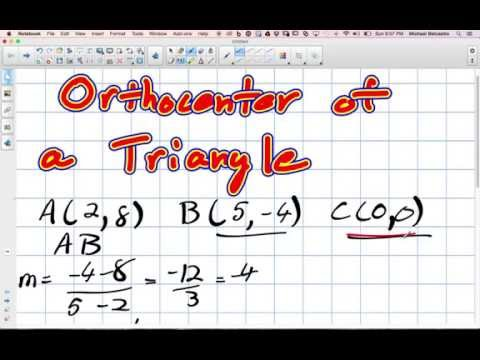 Orthocenter of a Triangle Grade 10 Academic Lesson 3 4 10 19 14