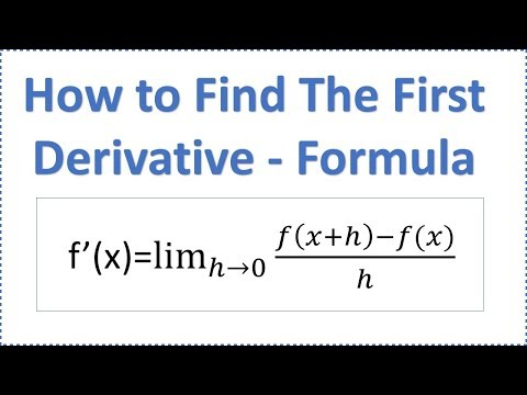 How to Find Derivative - Using Formula (Definition of the First Derivative)