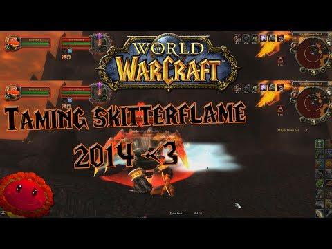 World of Warcraft - Taming Skitterflame (Rare spider pet) - 2014 Throwback!