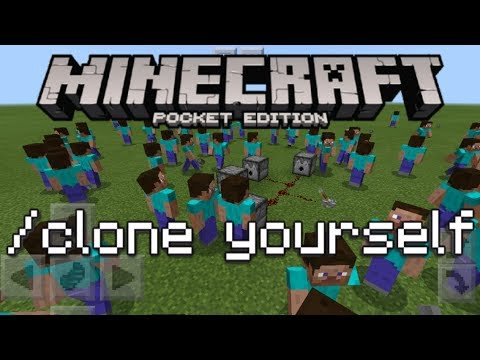 Minecraft PE - How To Make Clones! (How To Clone Yourself Tutorial!)