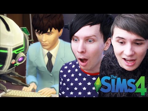 DIL'S NEW JOB! - Dan and Phil Play: Sims 4 #24