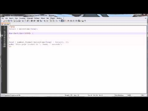 PHP Tutorials: Calculating Page Load Time (Script Execution)