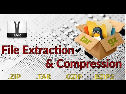 Compress and Extract tar and gz files