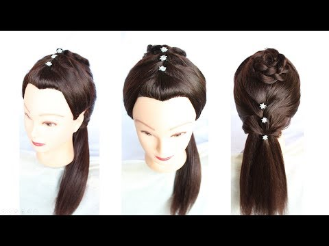 New Cute Stylish Easy hairstyle For Party || simple hairstyle || hair styles for girls || hairstyle