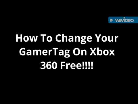 How To Change Your Gamertag On Xbox 360 Free!!