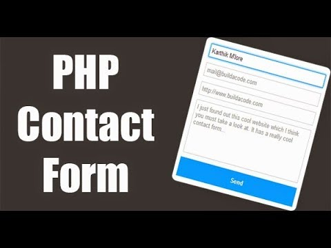 PHP Contact Form in bangla tutorial