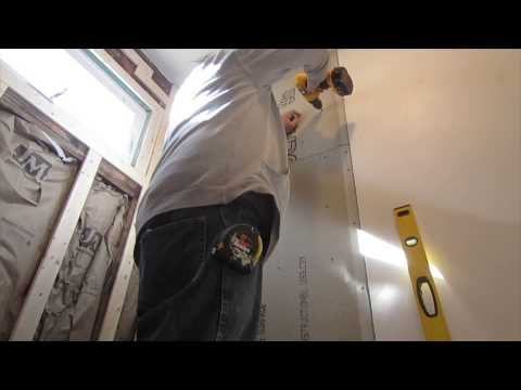 How to cut and install cement board for ceramic wall  tile
