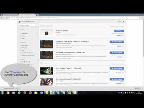 How to change Facebook theme by using Chrome extension