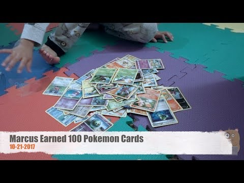 Marcus Earned 100 Pokemon Cards
