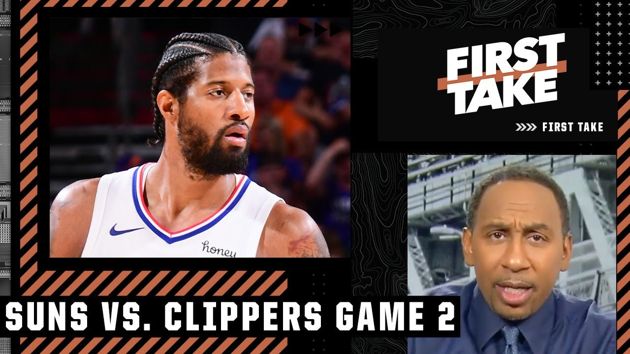 Stephen A. blames Paul George for the Clippers losing Game 2 | First Take