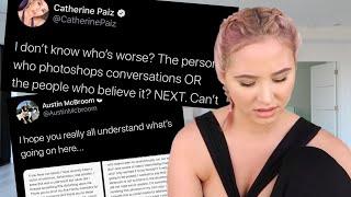 Catherine Paiz finally SPEAKS UP on Austin McBroom DRAMA...
