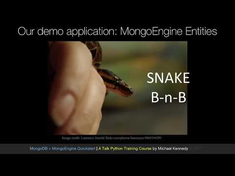 MongoDB and Python Quickstart (5/21): Demo: Defining mongoengine entities (classes)