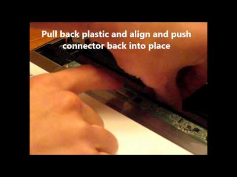 Laptop screen replacement / How to replace laptop screen Acer ASPIRE TIMELINE X 3820TG-3022
