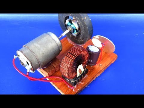 Free energy light bulbs - How to make free energy with magnets & motor generator at school