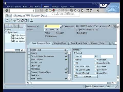 SAP HR - How to change start date