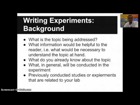 Writing Experiments in Biology