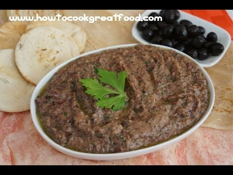 Red Bean & Black Olive Pate Dip Recipe Vegan - Kidney beans