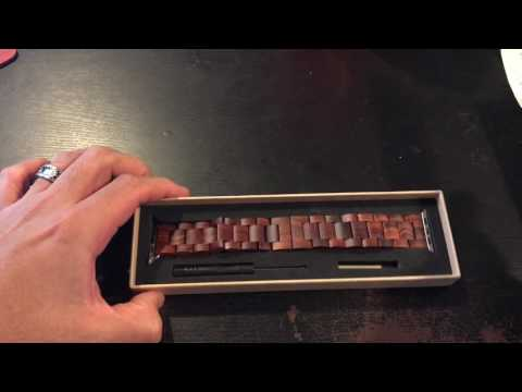DISDIM Wooden Apple Watch Band UNBOXING
