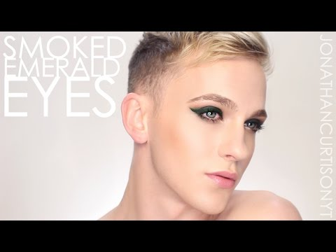 Smoked Emerald - Holiday Makeup GREAT for HOODED EYES :: JonathanCurtisOnYT