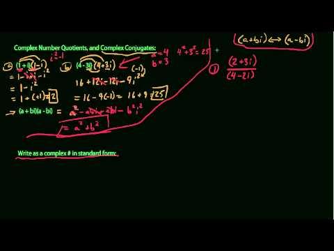 Complex Number Quotients