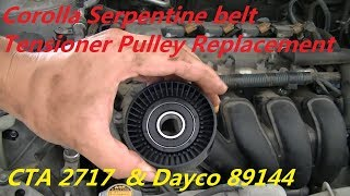 03-08 Toyota Corolla & Matrix Belt Tensioner Pulley Arm Replacement