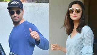 SPOTTED: Sidharth Malhotra and Alia Bhatt Post Meeting at Matrix Office in Bandra | SpotboyE
