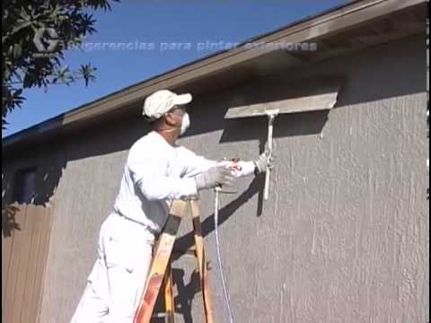 Exterior Painting with a Graco Magnum Airless Paint Sprayer (Spanish Version)