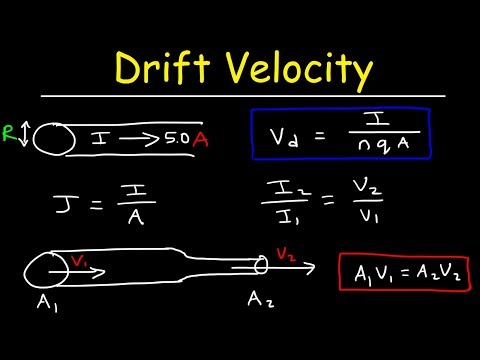 Drift Velocity, Current Density, Number of Free Electrons Per Cubic Meter   Physics Problems