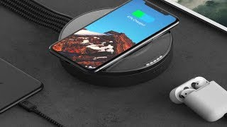 Nomad Wireless Hub new wireless charger is a four-port USB hub