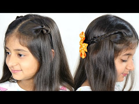 2 Easy, Simple & Cute Party Hairstyles - 2 Mins Everyday Hairstyles | MyMissAnand