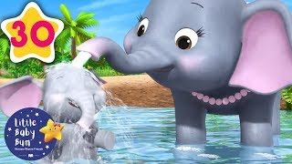 5 Elephants Having A Wash   +30 Minutes of Nursery Rhymes   Learn With LBB   #howto