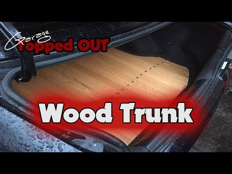 How to install wood trunk liner