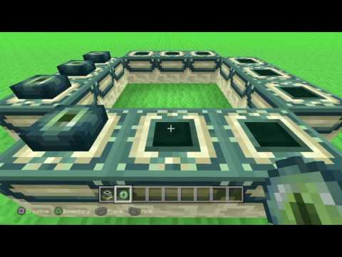 How to make a ender portal In Minecraft ps4 edition!!!!!!!