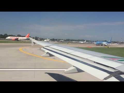 Alitalia flight leaving Venice (VCE) Marco Polo airport