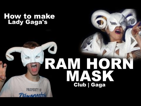 How to make Lady Gaga's Ram Mask from The Born This Way Ball (EASIEST TUTORIAL)