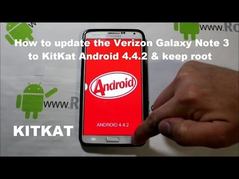 How to install KitKat Android 4.4.2 on the Verizon Galaxy Note 3 & Keep Root