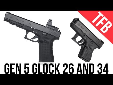 NEW! More Glocks for 2018 - The Glock 26 and Glock 34 MOS: Now in Gen 5