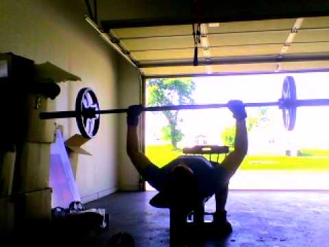 Bench Press without rack and homemade bench