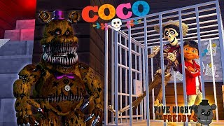 Minecraft FIVE NIGHTS AT FREDDYS - FREDDY HAS CAPTURED MIGUEL & HECTOR FROM THE MOVIE COCO!!