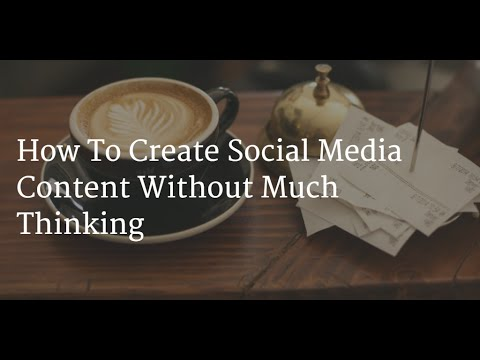 Simple Social Media Content Strategy
