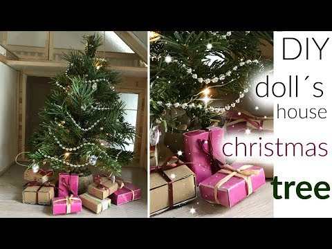 Doll craft: DIY christmas tree for a dollhouse /  decorations&gifts
