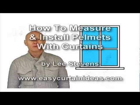 Measure For Pelmets and Curtains