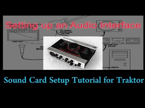 How to set up an Audio Interface sound card with Traktor