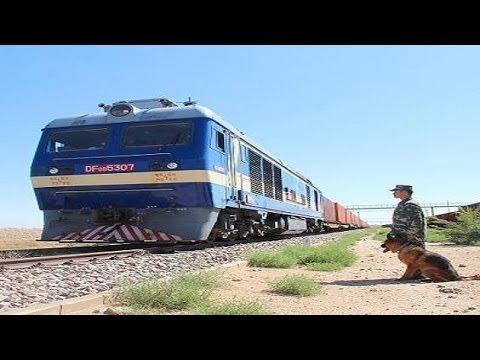 China's first goods train to London via silk road  |International News|Railways|