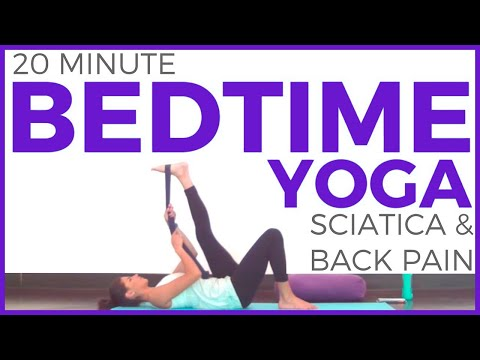 20 minute Bedtime Yoga for SCIATICA and LOW BACK PAIN (All Levels) | SarahBethYoga
