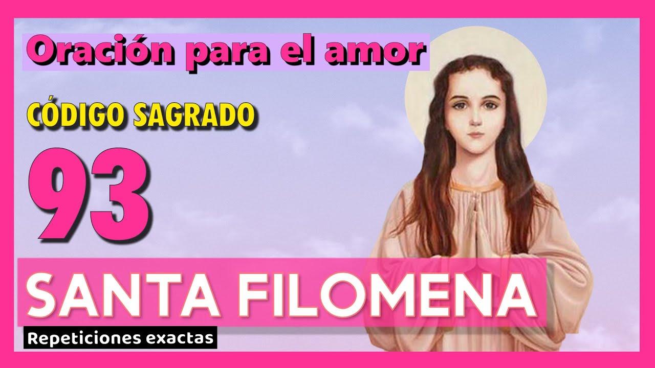 ✨Código sagrado 93 SANTA FILOMENA ✨ para ATRAER EL AMOR✨Agesta✨Muy milagroso