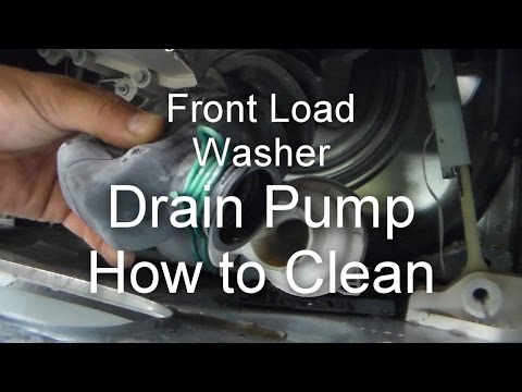 Front Load Washer Repair - Not Draining or Spinning - How to Unclog the Drain Pump